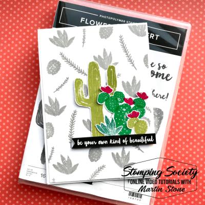 Stamping Society: Beautiful – Stampin' Up! Flowering Desert Stamp Set