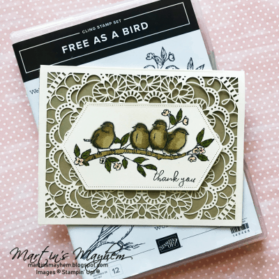 Thank You -Stampin' Up! Free As A Bird Stamp Set