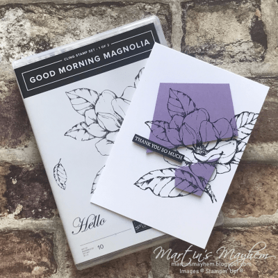 Thanks So Much – Stampin' Up! Good Morning Magnolia Stamp Set