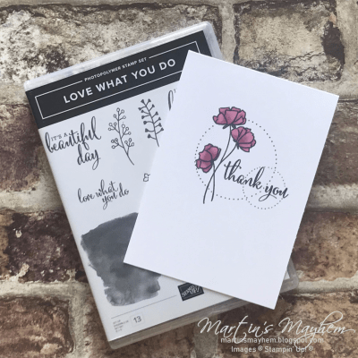 Thank you – Stampin' Up! Love What You Do Stamp Set