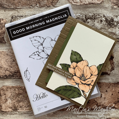 Shining Example – Stampin' Up! Good Morning Magnolia Stamp Set