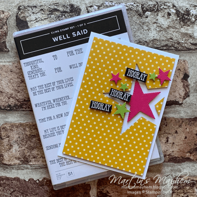 Hooray – Stampin' Up! Well Said Stamp Set