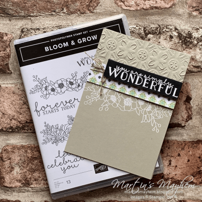 Simply Wonderful – Stampin' Up! Bloom & Grow Stamp Set