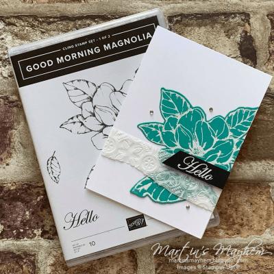 Creation Station: Hello – Stampin' Up! Good Morning Magnolia Stamp Set