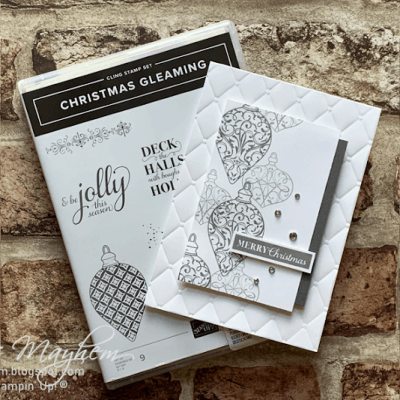 Online Card Class – Stampin' Up! Christmas Gleaming Stamp Set