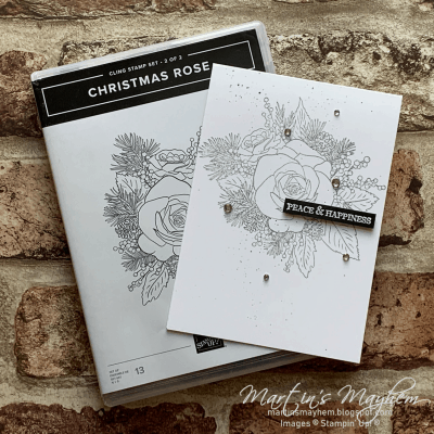 Stamping Society: Peace & Love – Stampin' Up! Itty Bitty Christmas & Christmas Rose Stamp Set