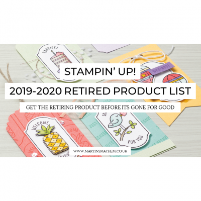 2019-2020 Stampin' Up! Retired Product List