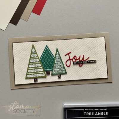 Stamping Society – Stampin' Up! Tree Angle Stamp Set